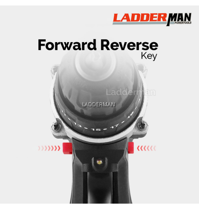 (PACKAGE) LADDERMAN 12V 2 SPEED Cordless Drill Screwdriver with Li-Ion Battery