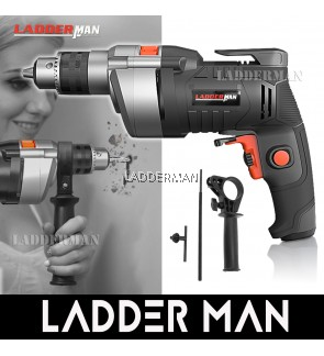 Ladderman LDM-CDM-800 13MM 800W Electric Impact Hammer Drill Screwdriver with 2 Function Mode