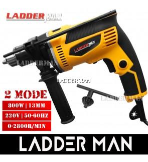 Ladderman LDM-DW511 800W 13MM 2 Function Mode Electric Hammer Impact Drill Screwdriver Home DIY