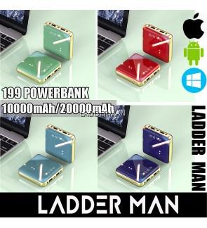 199 SMART POWER BANK 10000mAh / 20000mAh FAST CHARGE DUAL USB 2A OUTPUT LI-ION POLYMER BATTERY LCD DIGITAL DISPLAY