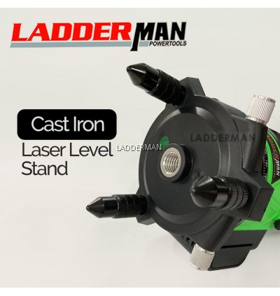 Green Line Laser Level 5 Lines 6 Point Indoor Outdoor Self Leveling Measuring Tool with Tripod and Accessories Set