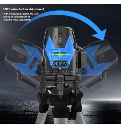 LDM-SB5-GREEN 5 Lines 6 Point Adjustable Laser Level 360° Rotary Indoor Outdoor Self Leveling Measuring Tool Set Line Measurement