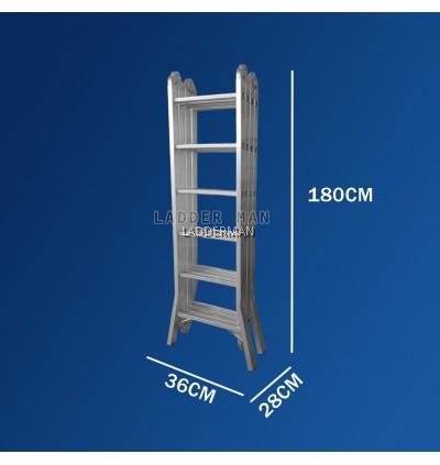 WB70 24 STEP MULTIPURPOSE ALUMINIUM LADDER WIDER BASE