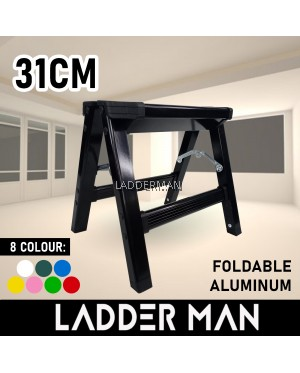 31CM SINGLE LAYER FOLDABLE ALUMINIUM LADDER MAX LOAD 150KG HOUSEHOLD USE SAFETY SAVE SPACE PORTABLE
